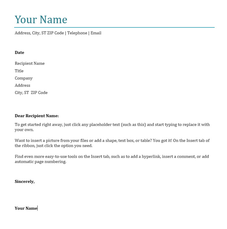 job application letter template uk