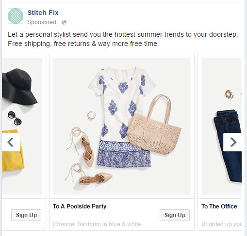 facebook carousel ads for sales