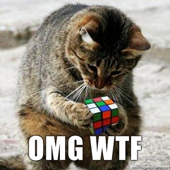 Ads on Facebook gif of cat unable to solve a rubik cube