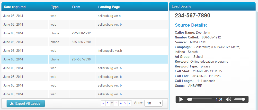 AdWords Call Tracking Tools
