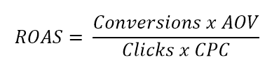 adwords roas formula