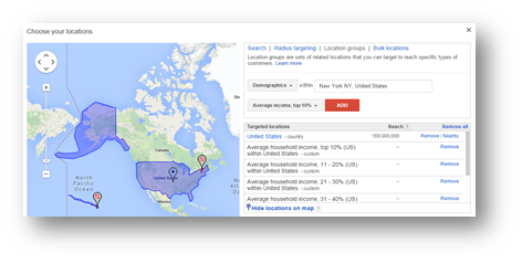 adwords income targeting customer funnel experience