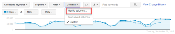 adwords ui modify columns