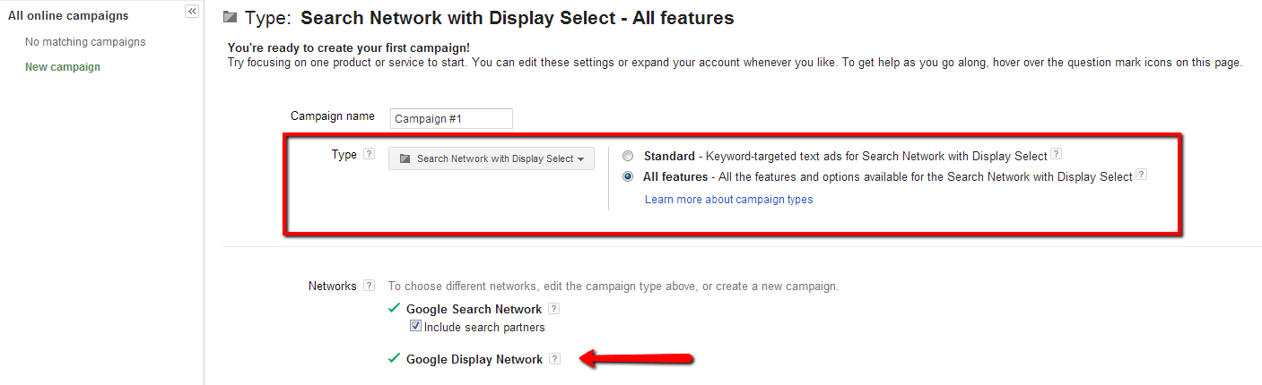 Search Network with Display Select