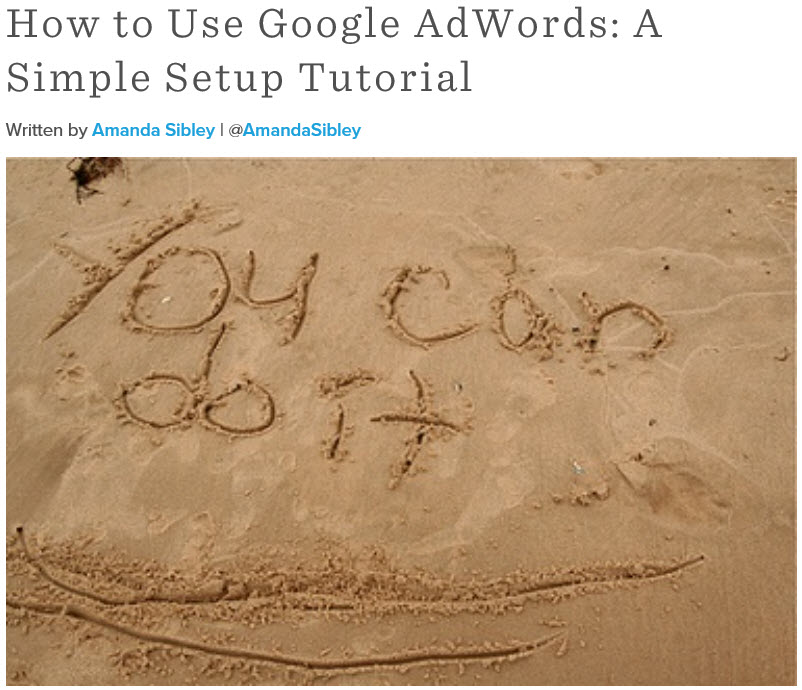 Simple AdWords Tutorial