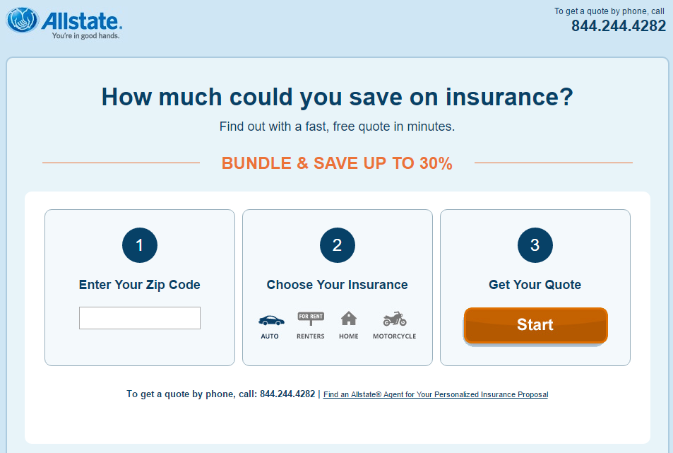 example landing page experience