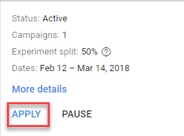 apply adwords ad variants