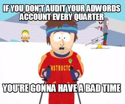 quarterly adwords account audit