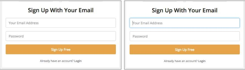 auto select forms on landing pages