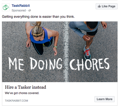 facebook advertising examples