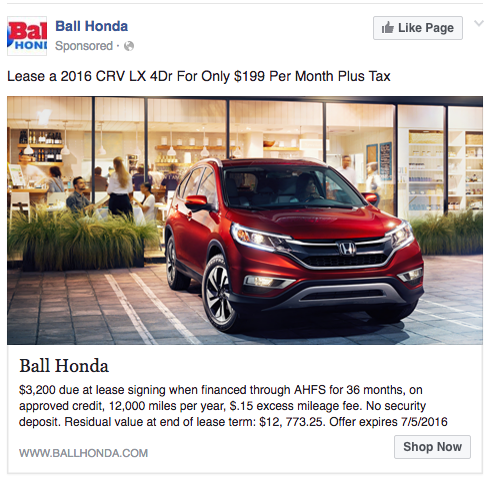 great facebook ad copywriting