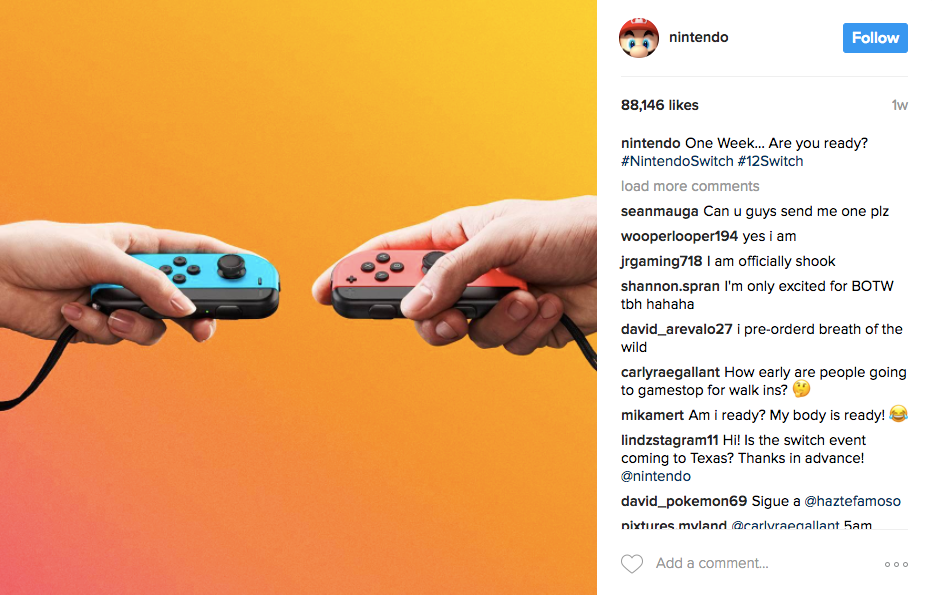 Best Instagram marketing campaigns Nintendo