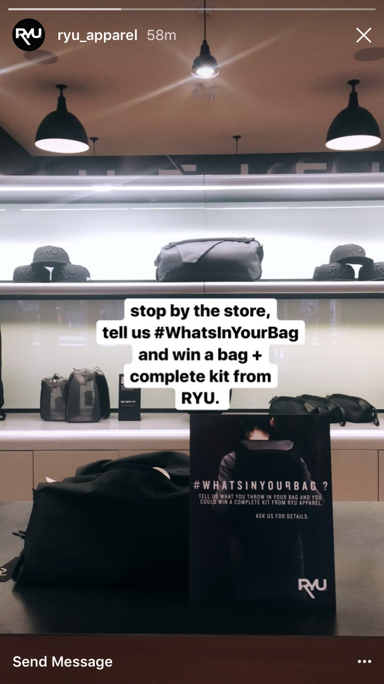 Best Instagram marketing campaigns Ryu clothing