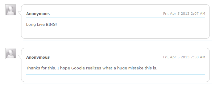 Long Live Bing - I Hope Google Realizes What a Huge Mistake This is