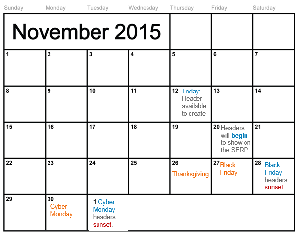 structured snippets calendar