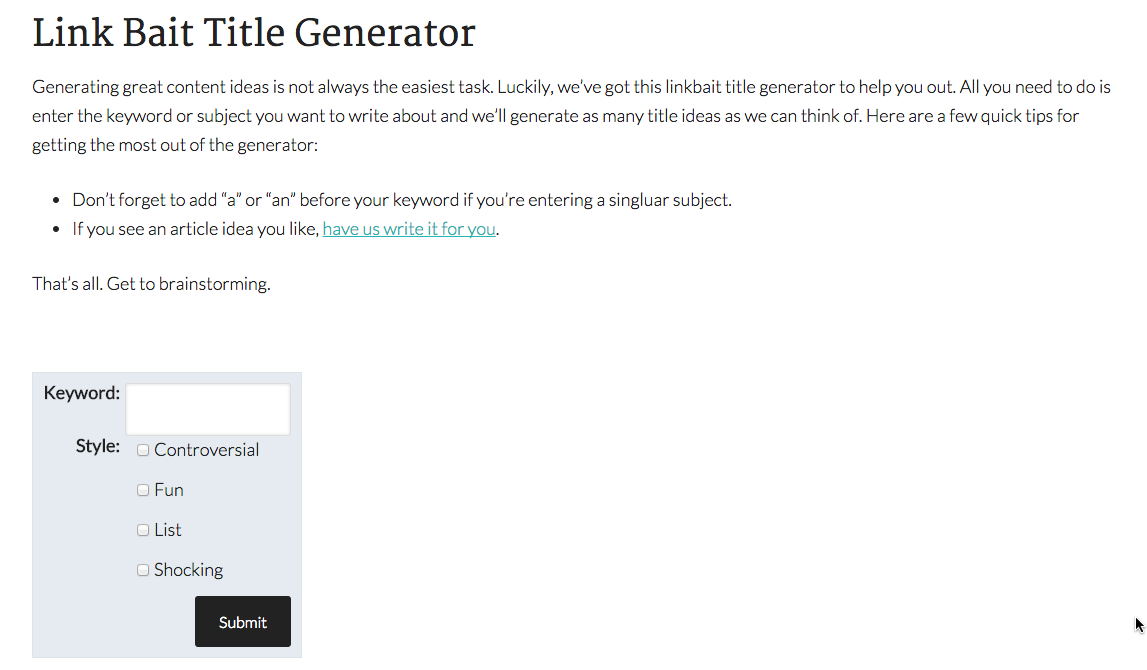 thesis paper outline generator