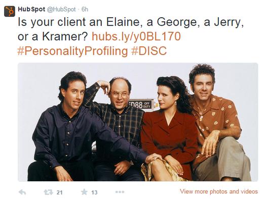 Brand marketing HubSpot tweet