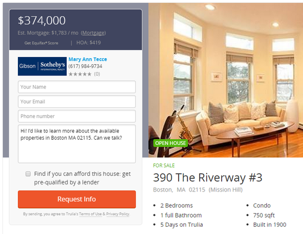 Call tracking real estate landing page