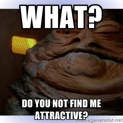 Comedy in content marketing Jabba the Hut meme