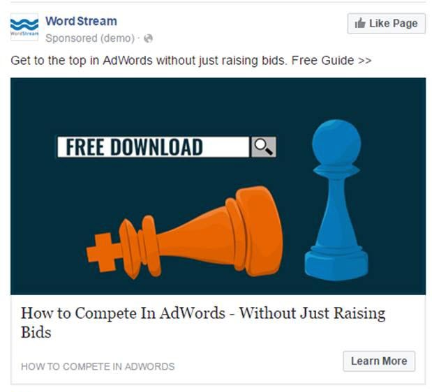 Content advertising example