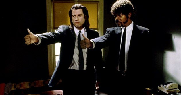 Content marketing metrics Pulp Fiction Jules and Vincent two thumbs up