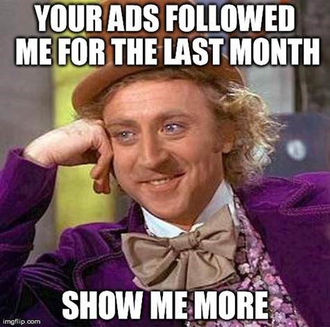 Content remarketing Willy Wonka meme