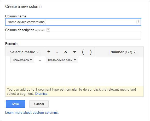 adwords custom column variable