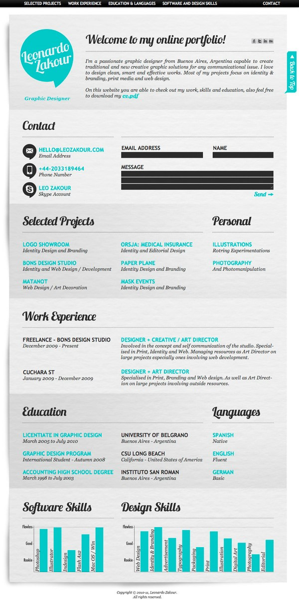 Social Media Resume  Social Media Resume Sample