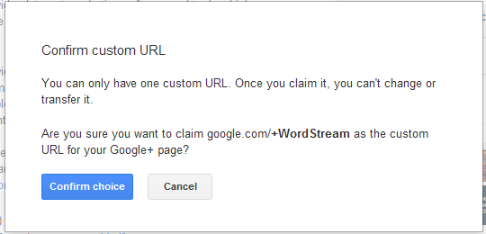 Confirm Google custom url