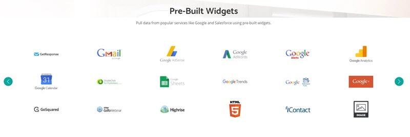 reporting tool widgets