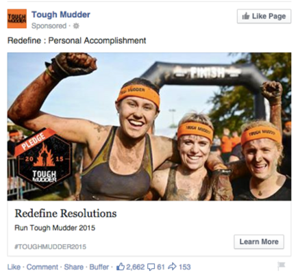 facebook ad with contrasting colors