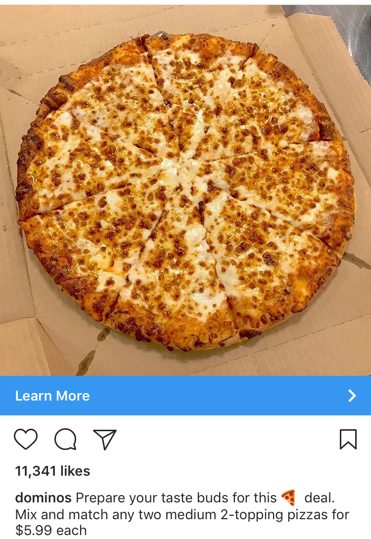 Dominos Instagram Ad