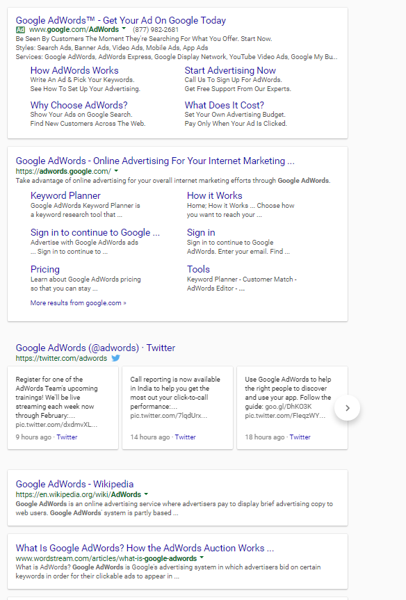 google seo and intent match