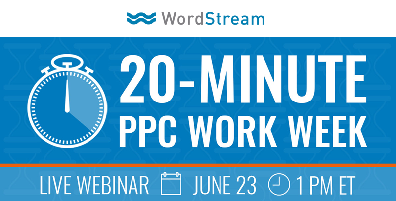 Email optimization PPC Work Week webinar example