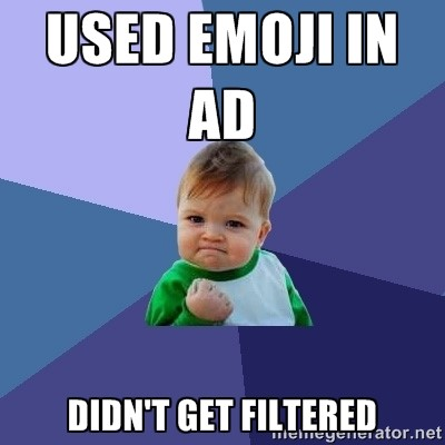 Emojis in ad text