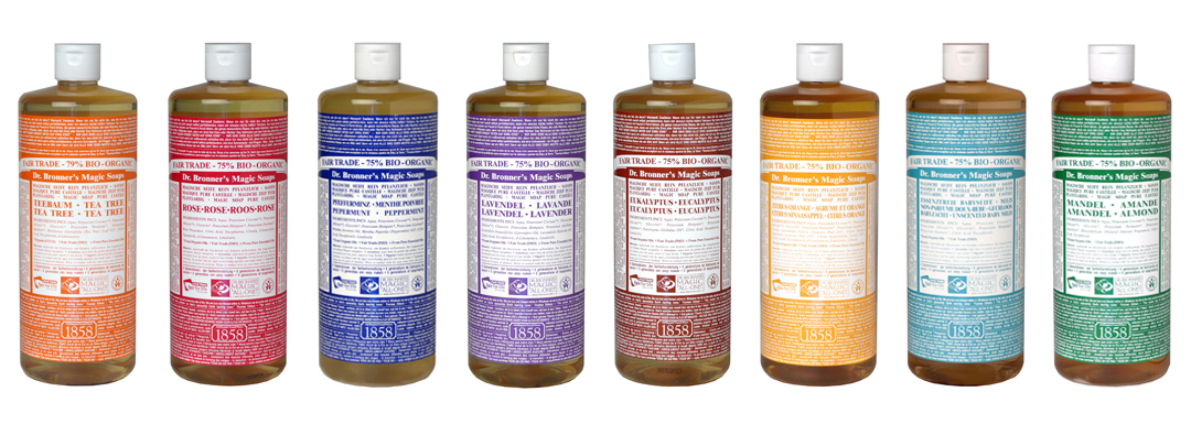 Ethical marketing Dr. Bronner's liquid soap