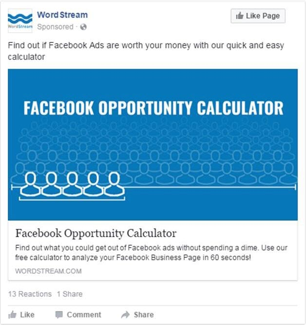 Value Proposition Facebook Ads