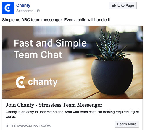 Facebook Ads for SaaS companies bad example