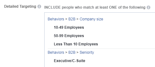 facebook ads b2b behavioral targeting