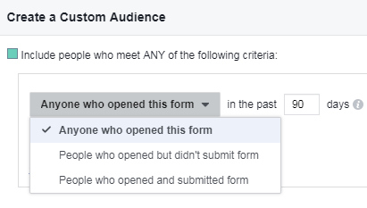 b2b advertisers can create custom audiences based on interactions with facebook lead ads