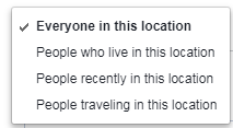 facebook location targeting variables