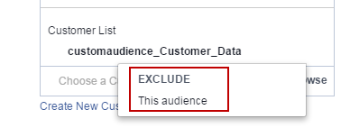 Facebook advertising cost exclude audience