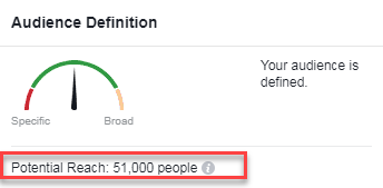 well defined facebook audience