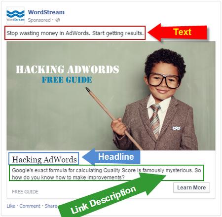 Facebook for lead gen ad copy