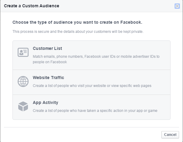 Facebook for lead gen custom audience