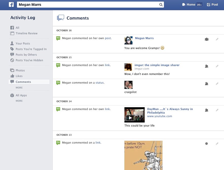 Facebook Graph Search Example