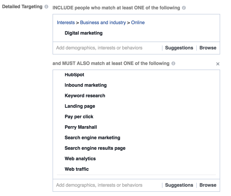 facebook interest targeting digital marketing