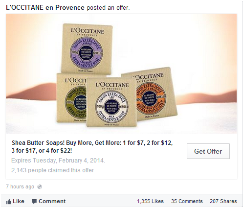Facebook Offer Ad