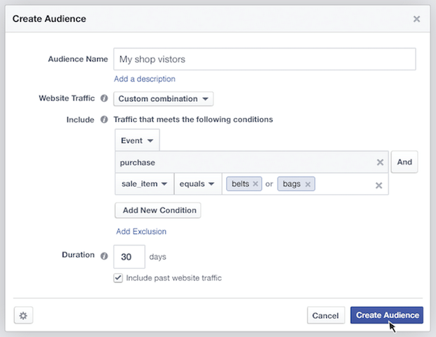 facebook product ad audiences