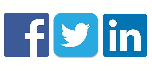logos for facebook linkedin and twitter